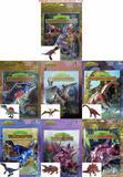 Dinossauros em miniaturas articuladas - Coleção com 7 dinossauros - Bombom books