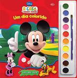 Disney aquarela - casa de mickey mouse, a - um dia colorido - Difusao cultural do livro