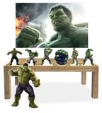 Display de  festa hulk + painel - X4adesivos