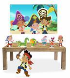 Display mdf  Jake e os Piratas Com 07 Pçs + Painel - X4adesivos