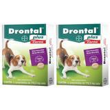 Drontal plus sabor carne 4 comp combo 2 caixas validade 08/21 - Bayer