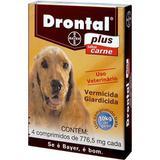Drontal Plus Sabor Carne - 4 comprimidos - Cães até 10Kg - Bayer