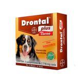Drontal Plus Sabor Carne Para Cães (2 comprimidos) 35kg - Bayer