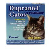 Duprantel Vermífugo p/ Gatos 4 comp - Duprat