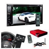 Dvd Automotivo + Receptor Tv Digital + Controle De Volante - Multi marcas