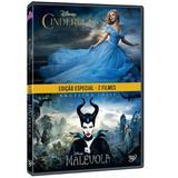 DVD Edição Especial 2 Filmes Cinderela + Malévola - Disney
