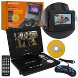 """DVD Player Automotivo Portátil Multilaser AU710 7"""" USB MP3 MP4 Função Game Controle Joystick Bivolt"""