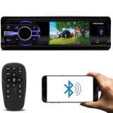 "DVD Player Automotivo Pósitron SP4340BT 1 Din 3"" LCD Bluetooth USB P2 FM MP3 CD DVD Com Controle - Positron"
