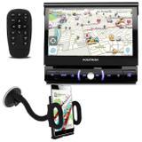 "DVD Player Automotivo Pósitron SP6330BT 1 Din 7"" Retrátil BT Espelhamento USB MP3 + Suporte GPS - Kit som e vídeo"
