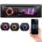 """DVD Player Automotivo Quatro Rodas MTC6616 1 Din Tela LED 3"""" Bluetooth USB SD AUX MP3 FM Controle"""