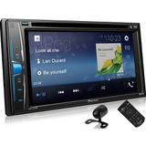 DVD Player AVH-A218BT 6.2 pol Pioneer 2Din BT FM Touch Bluetooth Usb Aux Cd Dvd + Câmera de ré