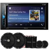 "DVD Player Pioneer AVH-A208BT 2 Din 6.2"" + Kit 2 Vias Pioneer 6"" 120W RMS - Prime"