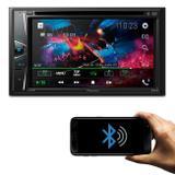"DVD Player Pioneer AVH-G218BT 6.2"" 2 Din Touch Screen Bluetooth CD DVD USB AUX RCA FM AM MP3 WMA"