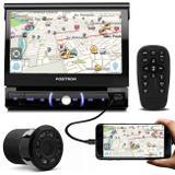 DVD Player Pósitron SP6330BT 7'' Retrátil Bluetooth Espelhamento USB AUX + Câmera Ré Noturna 8 Leds - Kit som e vídeo