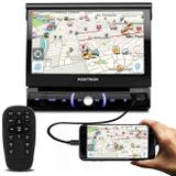 "DVD Player Pósitron SP6330BT 7"" Touch Bluetooth Espelhamento Android USB SD P2 CD DVD AM FM MP3 - Positron"