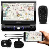 DVD Player Pósitron SP6730DTV 7'' Retrátil Bluetooth Espelhamento TV USB AUX SD + Câmera De Ré - Kit som e vídeo