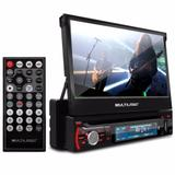 DVD Player Retrátil 7 Pol Multilaser - Bluetooth, GPS, TV Digital,  Espelhamento GP044