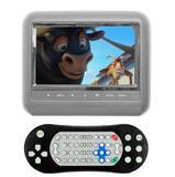 DVD Portátil Encosto Cabeça Cinza Tela 7 Polegadas Com USB SD DVD E JOGO - First option