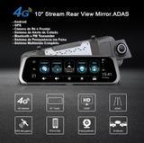 """DVR 10"""" Veicular Android GPS WiFi 4G Rastreador Câmera de Ré Alerta de Colisão e Permanência de Faixa - Junsun"""