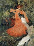 Elegância (1903) - Georges de Feure - Tela 30x41 Para Quadro - Santhatela