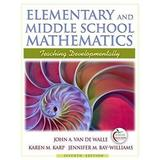 Elementary and middle school mathematics 7th edition - Phe - pearson higher education
