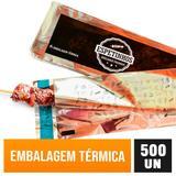 Embalagem Térmica Espetinho Churrasquinho Churrasco - 500 unidades - Sua embalagem