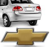 Emblema Adesivo Chevrolet Gravata Dourado Porta Malas GM Corsa Sedan 2010 e 2011 12,0 x 5,0cm - Prime