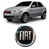 Emblema FIAT da Grade do Radiador Palio Doblô Idea Punto 2007 2008 2009 2010 2011 2012 Preto - Marcon