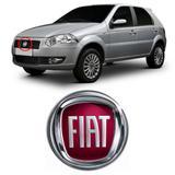Emblema FIAT da Grade do Radiador Palio Doblô Idea Punto 2007 2008 2009 2010 2011 2012 Vermelho - Marcon