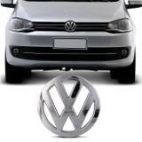 Emblema Volkswagen Grade Dianteira Gol G4 2004 a 2014 Fox 2003 a 2009 Cromado Encaixe Perfeito - Prime