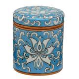 Enfeite de Porcelana Decorativo Potiche Redondo Floral - Mabruk