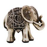Enfeite Decorativo Elefante Prateado - Resina