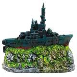 Enfeite para aquário Barco fragata mini B-41 - Andrada