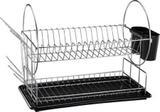 Escorredor de louças preto 2 andares 16 pratos - maggiore mor