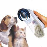 Escova elétrica aspirador suga pelo pet cachorro e gato portátil - Western