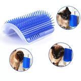 Escova Pet Parede - Massageador Para Gatos e Brinquedo Cor Verde - Lrp