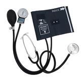 Esfigmomanômetro aneroide com estetoscópio premium (braçadeira em fecho de metal) - Solidor
