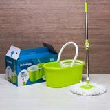 Esfregão de limpeza prática com balde spin Mop com 2 refis - Bt-140 Beltempo