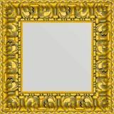 Espelho com Moldura cor Ouro Envelhecido 50x50cm - Decore pronto