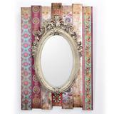 Espelho Retrô Moldura Estampada 40x59 Decorglass - Decor glass