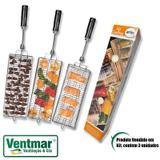 Espeto para Churrasco - Kit Espetos 3 Grelhas ARKE Vitta Premium Vitta Smart MultiUso Peixe Coração