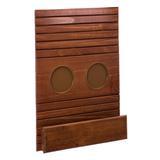 Esteira com porta copos/controle madeira Mel - Abra casa