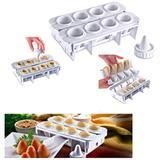 Fabrica De Coxinha Com 8 Formas De Plastico Branco - Lig brin