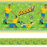 Faixa Decorativa Adesiva Infantil Futebol Gol 20mx10cm - Quartinhos