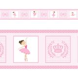 Faixa Decorativa Adesivo De Parede Border Infantil Bailarina - Magazine do adesivo
