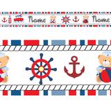 Faixa Decorativa Adesivo Parede Border Infantil Marinheiro - Magazine do adesivo