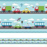 Faixa Decorativa Infantil Adesiva Carros 10mx10cm - Quartinhos