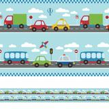 Faixa Decorativa Infantil Adesiva Carros 5mx10cm - Quartinhos