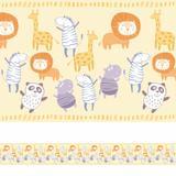 Faixa Decorativa para Quarto de Bebê Animais 3mx15cm - Quartinhos