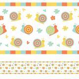 Faixa Decorativa para Quarto de Bebê Caracol 5mx10cm - Quartinhos